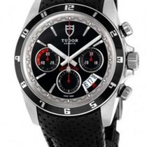 Tudor Grantour Chrono Steel 42mm Black