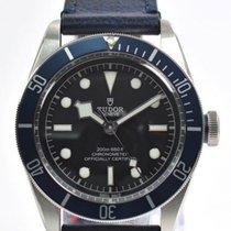 Tudor Heritage Black Bay Blue Disc Blue Leather Automatic Men...
