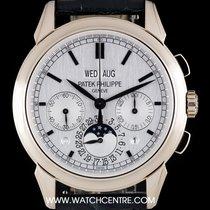 Patek Philippe 18k White Gold Silver Dial Perpetual Calendar ...