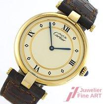 Cartier Must Vermeil VLC Ronde großes Modell Ø 30 mm -Quarz -...