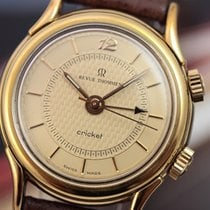 Revue Thommen Gents Cricket Manual Wind Alarm 35mm Gold...