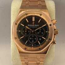 Audemars Piguet Royal Oak Chrono pink gold / black dial 41mm