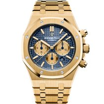 Audemars Piguet Yellow gold Automatic Blue 41mm new Royal Oak Chronograph