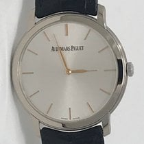 Audemars Piguet Jules Audemars White gold 41mm Silver No numerals