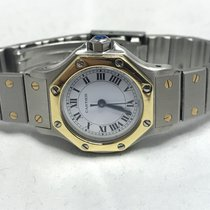 Cartier Santos (submodel) pre-owned 25mm Gold/Steel