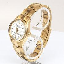 Rolex Oyster Perpetual Lady Date Жёлтое золото 28mm Белый Римские