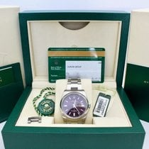 Rolex Oyster Perpetual 36 Steel 36mm Purple Arabic numerals
