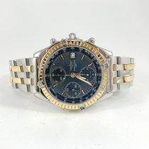 Breitling Chronomat Gold/Steel 39mm Blue No numerals Finland, HELSINKI