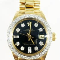 Rolex Yellow gold Automatic No numerals 26mm pre-owned Lady-Datejust