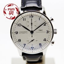 IWC Portuguese Chronograph Çelik Gümüş Arapça