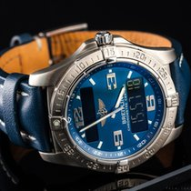 Breitling Aerospace Avantage Titan 42mm Blau Arabisch