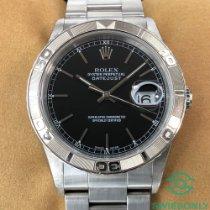 Rolex Datejust Turn-O-Graph Acél 36mm Fekete Római
