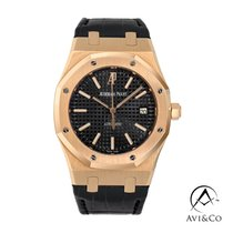 Audemars Piguet Royal Oak Selfwinding Rose gold 39mm Black No numerals