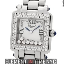 Chopard Happy Sport Classic Square 7 Floating Diamonds Diamond...