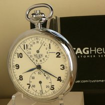 Heuer new Manual winding Small seconds 52mm Steel Mineral Glass