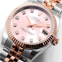 Rolex 36mm Rose Gold & Steel Datejust Diamond Dial 116261...