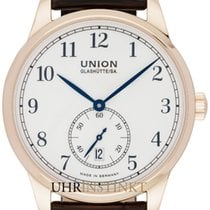 Union Glashütte 1893 Small Second Aur galben 41,00mm Alb
