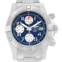 Breitling Aeromarine Super Avenger Blue Dial Mens Watch A13381