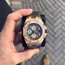 Audemars Piguet Royal Oak Offshore Chronograph nowość 2018 Automatyczny Chronograf Zegarek z oryginalnym pudełkiem i oryginalnymi dokumentami 26470OR.OO.A125CR.01