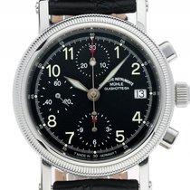 Mühle Glashütte Chronograph II Stahl Automatik Armband Leder...