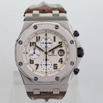 Audemars Piguet Royal Oak Offshore Chronograph Ocel 42mm Bílá Arabské