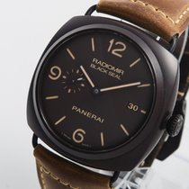 Panerai Radiomir Black Seal 3 Days Automatic rabljen 45mm Smedj Datum, nadnevak Koza