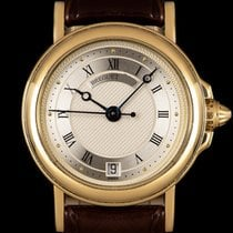 Breguet Yellow gold Automatic Silver Roman numerals 26mm pre-owned Marine
