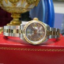 Rolex Lady-Datejust Altın/Çelik 26mm Gri Romen rakamları