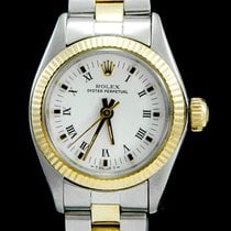 Rolex Oyster Perpetual 26 Goud/Staal 26mm Wit Romeins