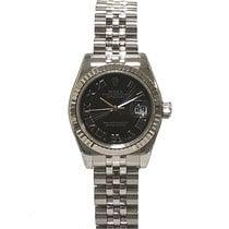 Rolex Lady-Datejust Steel 26mm Black Roman numerals