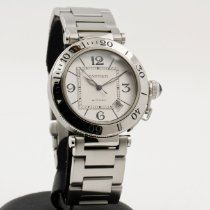 Cartier Pasha Seatimer Steel 40mm White Arabic numerals