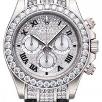 Rolex Daytona 18K Solid White Gold Automatic Diamonds
