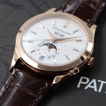 Patek Philippe Annual Calendar Rose gold 38mm Silver No numerals