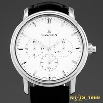Blancpain Villeret Steel 38 mm case without crown 42 mm w/crownmm White