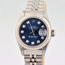 Rolex Datejust Blue Diamond Dial Stainless Steel 69160 Watch