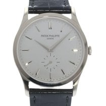 Patek Philippe Calatrava Silver Dial 18kt 5196G Watch with...