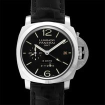 Panerai Luminor 1950 8 Days GMT Чёрный