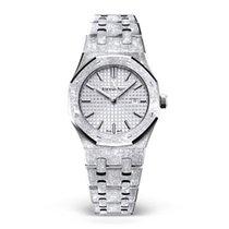 6192f93c0540 Audemars Piguet White gold Quartz Silver No numerals 33mm new Royal Oak Lady