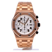 Audemars Piguet Royal Oak Offshore Chronograph tweedehands 42mm Zilver Chronograaf Datum Tachymeter Roségoud
