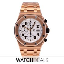 Audemars Piguet Royal Oak Offshore Chronograph occasion 42mm Argent Chronographe Date Tachymètre or rose