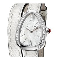 Bulgari Serpenti Steel 27mm Mother of pearl