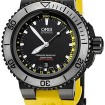 Oris Aquis Depth Gauge Steel 46mm Black No numerals United States of America, Alabama, Oranjestad