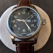 Oris Big Crown Small Second Pointer Day pre-owned 44mm Date Weekday Leather