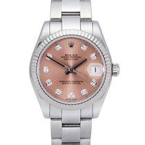 Rolex Сталь Автоподзавод Розовый Без цифр 31mm подержанные Lady-Datejust