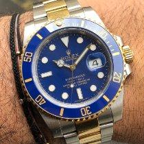 Rolex Submariner Date Or/Acier 40mm Bleu Sans chiffres France, Paris