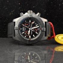 Breitling Avenger Seawolf gebraucht 45mm Schwarz Chronograph Datum Kautschuk