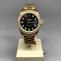 Rolex Lady-Datejust Yellow gold 26mm Black No numerals