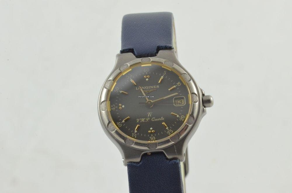 new arrivals a04e2 3fb63 Longines Conquest Damen Uhr 4025 Quartz Titan/gold 25mm Vintage