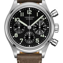 Longines Avigation Steel 41mm Black Arabic numerals