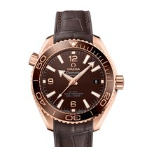 Omega Rose gold Automatic Brown 40mm new Seamaster Planet Ocean